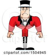 Sad Buff Caucasian Male Circus Ringmaster
