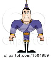 Clipart Of A Sad Buff Caucasian Male Wizard Royalty Free Vector Illustration