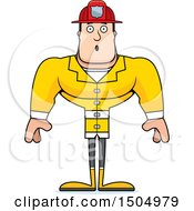 Clipart Of A Surprised Buff Caucasian Male Royalty Free Vector Illustration