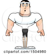 Clipart Of A Surprised Buff Caucasian Male Fitness Guy Royalty Free Vector Illustration by Cory Thoman