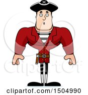 Clipart Of A Surprised Buff Caucasian Male Pirate Captain Royalty Free Vector Illustration