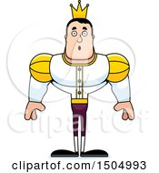Clipart Of A Surprised Buff Caucasian Male Prince Royalty Free Vector Illustration