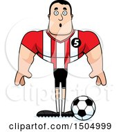 Clipart Of A Surprised Buff Caucasian Male Soccer Player Athlete Royalty Free Vector Illustration