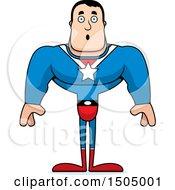 Surprised Buff Caucasian Male Super Hero