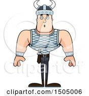Clipart Of A Surprised Buff Caucasian Male Viking Royalty Free Vector Illustration