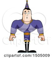 Clipart Of A Surprised Buff Caucasian Male Wizard Royalty Free Vector Illustration