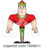 Surprised Buff Caucasian Male Christmas Elf