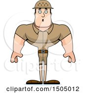 Clipart Of A Surprised Buff Caucasian Male Zookeeper Royalty Free Vector Illustration