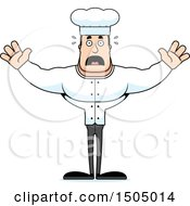 Clipart Of A Scared Buff Caucasian Male Chef Royalty Free Vector Illustration