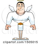 Clipart Of A Happy Buff Caucasian Male Angel Royalty Free Vector Illustration