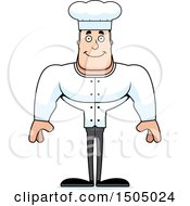 Clipart Of A Happy Buff Caucasian Male Chef Royalty Free Vector Illustration