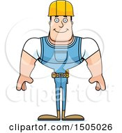 Clipart Of A Happy Buff Caucasian Male Construction Worker Royalty Free Vector Illustration by Cory Thoman