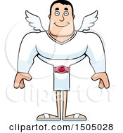 Clipart Of A Happy Buff Caucasian Male Cupid Royalty Free Vector Illustration