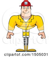 Clipart Of A Happy Buff Caucasian Male Royalty Free Vector Illustration