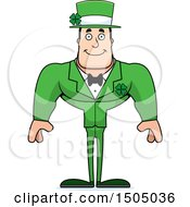 Clipart Of A Happy Buff Caucasian Irish Man Royalty Free Vector Illustration