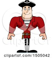 Clipart Of A Happy Buff Caucasian Male Pirate Captain Royalty Free Vector Illustration