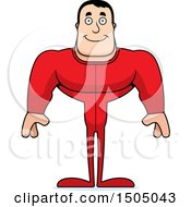 Clipart Of A Happy Buff Caucasian Male In Pjs Royalty Free Vector Illustration