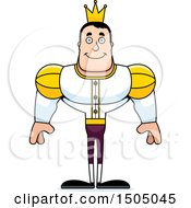 Clipart Of A Happy Buff Caucasian Male Prince Royalty Free Vector Illustration