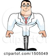 Clipart Of A Happy Buff Caucasian Male Scientist Royalty Free Vector Illustration by Cory Thoman