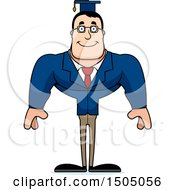 Clipart Of A Happy Buff Caucasian Male Teacher Royalty Free Vector Illustration
