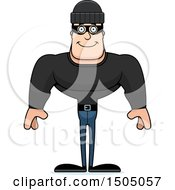 Clipart Of A Happy Buff Caucasian Male Robber Royalty Free Vector Illustration by Cory Thoman