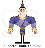Clipart Of A Happy Buff Caucasian Male Wizard Royalty Free Vector Illustration