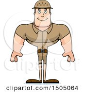 Clipart Of A Happy Buff Caucasian Male Zookeeper Royalty Free Vector Illustration