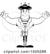 Black And White Buff Male Pirate Captain With Hearts And Open Arms