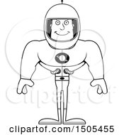Black And White Happy Buff Male Astronaut