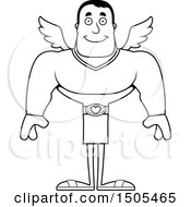 Black And White Happy Buff Male Cupid
