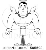 Poster, Art Print Of Black And White Surprised Buff Male Angel