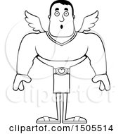 Poster, Art Print Of Black And White Surprised Buff Male Cupid