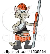 Clipart Of A Concrete Worker Kangaroo With Tools Royalty Free Vector Illustration