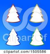 Blue Background With Christmas Tree Frames