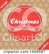 Christmas Greeting Background With Snowflakes