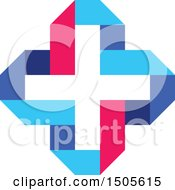 Clipart Of A Medical Cross Design Royalty Free Vector Illustration by elena