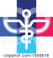 Clipart Of A Medical Cross Caduceus Design Royalty Free Vector Illustration by elena
