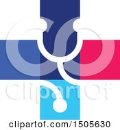Clipart Of A Medical Cross Stethoscope Design Royalty Free Vector Illustration by elena