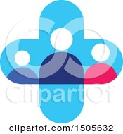 Clipart Of A Medical Cross People Design Royalty Free Vector Illustration by elena