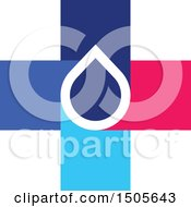 Clipart Of A Medical Cross Water Drop Design Royalty Free Vector Illustration
