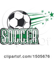 Soccer Ball And Text Design