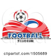 Stadium Arena And Soccer Ball Design