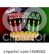 Clipart Of A Happy Kwanzaa Greeting And Candles Royalty Free Vector Illustration by AtStockIllustration