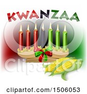 Clipart Of Kwanzaa Candles With Corn And Text Royalty Free Vector Illustration by AtStockIllustration