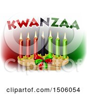 Clipart Of Kwanzaa Candles And Text Royalty Free Vector Illustration by AtStockIllustration