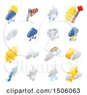 3d Isometric Weather Forecast Icons