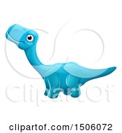 Clipart Of A Blue Apatosaurus Dino Royalty Free Vector Illustration