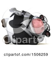 3d Business Holstein Cow Holding A Wrench On A White Background