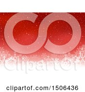 Christmas Background With Snowflakes On Red