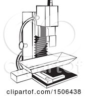 Clipart Of A Black And White Milling Machine Royalty Free Vector Illustration by Lal Perera